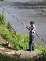 Angler an der Meuse